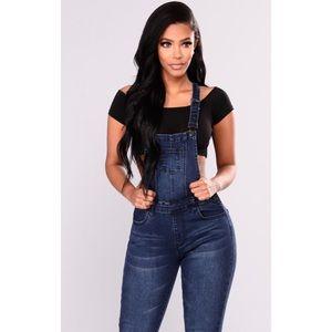 90d65c28407 Fashion Nova Jeans - Fashion Nova Denim Jean Jumpsuit Overalls